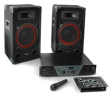 Equipo Sonido DJ Ibiza 300 Set 2X Altavoz PA (Amplificador 480W ...
