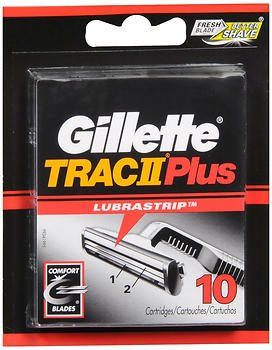 Gillette Trac II Plus Cartridges - 10 ct, Pack of - Blades Razor Trac 11