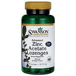 Swanson Advanced Zinc Acetate Lozenges 18.75 Milligrams 30 Lozenges
