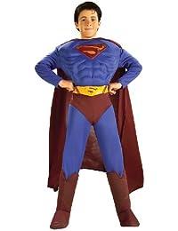DC Comics Deluxe Muscle Chest Superman Child's Costume, Medium