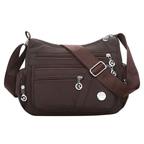 Mujer Messenger Shoulder Fiesta Escuela Nylon Bag Para Desigual Bolsos Marron Mochila Crossbody Bolso De Trabajo Vida Viaje Sencillo Bandolera ZI6B6n