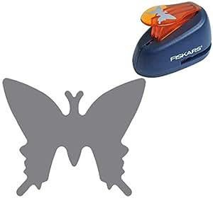Fiskars - Troqueladora estampadora, diseño mariposas (2,5 cm)
