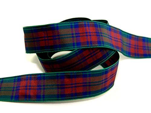 10mm Berisford Woven Tartan Ribbon 12 Lindsay - per 25 metre roll (Tartan Ribbon Mm 10)