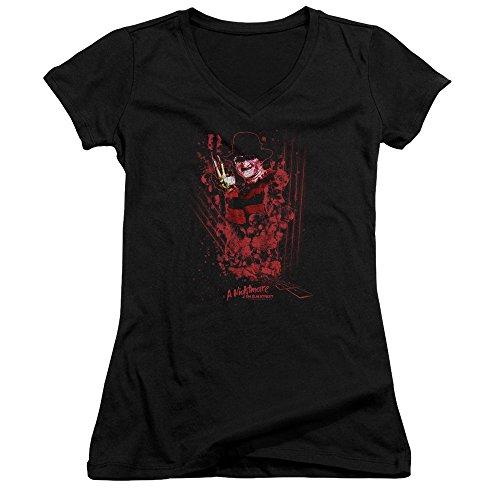 V Pour One Street Two Nightmare Femmes Col Elm shirt En À Venir Freddys Black On T aazgxP