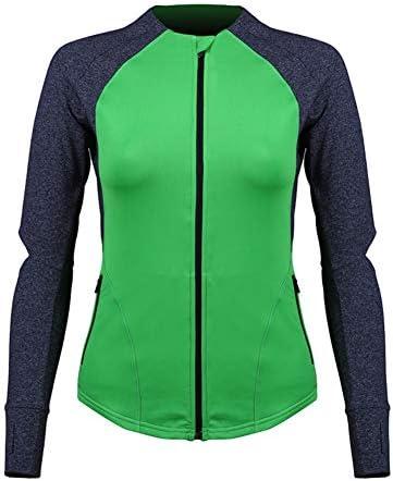 ヨガジャケット、ヨガジョギングのためのワークアウト長袖ジャケットジムヨガウェアは、筋力トレーニングをウォームアップ,S
