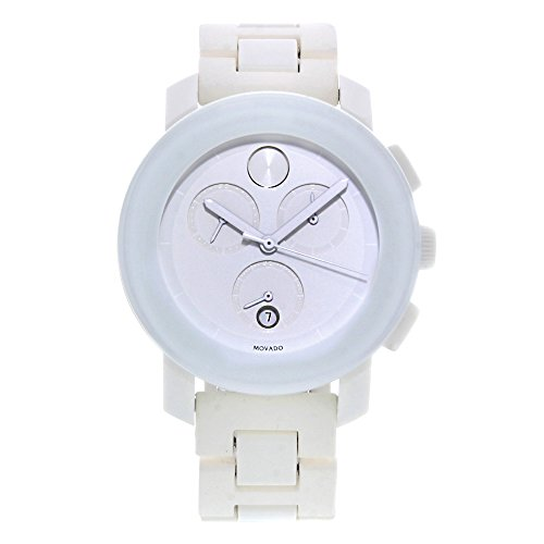 Bold Chronograph PVD White Steel And Rubber Mens Watch - Movado 3600057