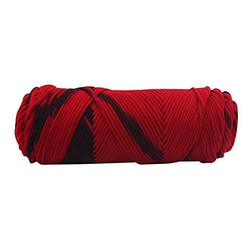Chunky Wool Yarn, Sacow Solid Milk Cotton Wool Hand Knitting Cotton Knitting Crochet Knitwear Wool, 1pc=100g (M) ()