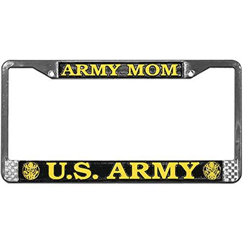 ense Plate Frame (Chrome Metal) (Army Mom License Plate Frame)