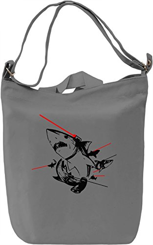 Sharks With Lasers Borsa Giornaliera Canvas Canvas Day Bag| 100% Premium Cotton Canvas| DTG Printing|