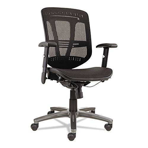 Alera Eon Series - Alera ALEEN4218 Eon Series Multifunction Wire Mech, Mid-Back Suspension Mesh Chair, Black