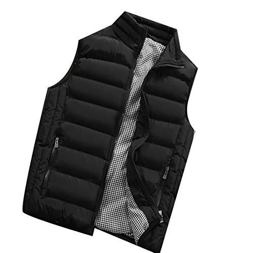 Vest Collar Black Down Men's Lightweight Casual Stand Vest Jacket EKU ECq8zA