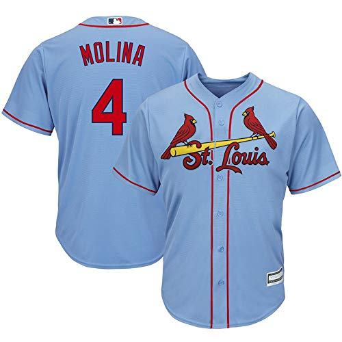 - Yadier Molina St. Louis Cardinals Alternate Cool Base Player Jersey #4- Horizon Blue XL