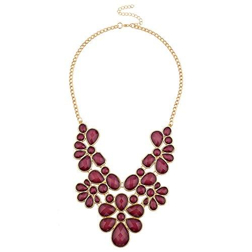 Lux Accessories Womens Statement Necklace