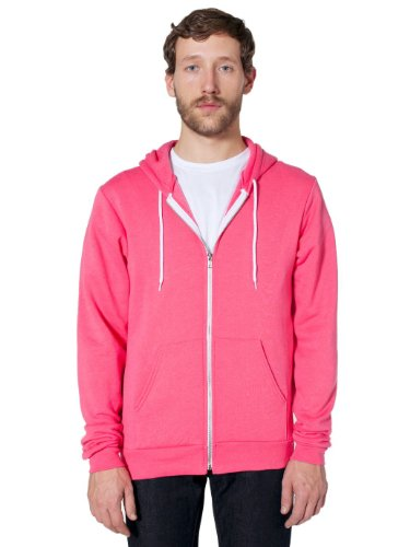 Apparel Fleece Hoodie Flex Zip Deep Pink F497 American Unisex HtqOwHd