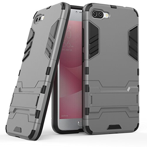 TPU/PC Shockproof Cover Case For Zenfone Max (Grey) - 2