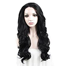 Imstyle® Synthetic Lace Front Wig Long Body Wavy Jet Black Heat Resistant Hair Wig