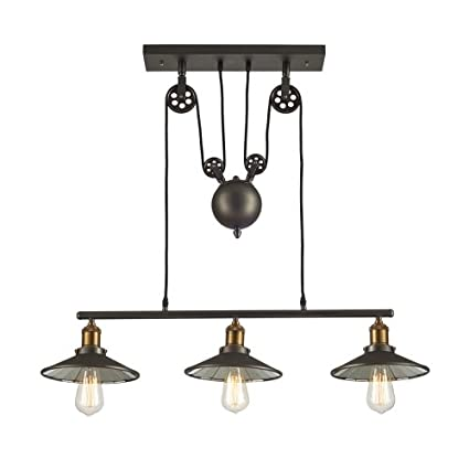 Ohr Lighting Edison Hanging vintage Barn Pendant 3 Light Fixture ...
