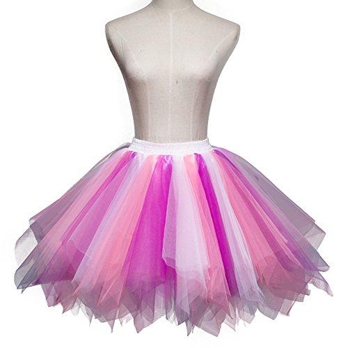 ONECHANCE Classique Couches Tulle Tutu Annes 50 Vintage Petticoat Jupe Ballet Bubble Party Jupe Mix 9