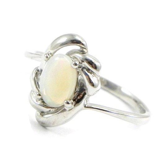 Bague Argent 'Déesse Opale' Blanc