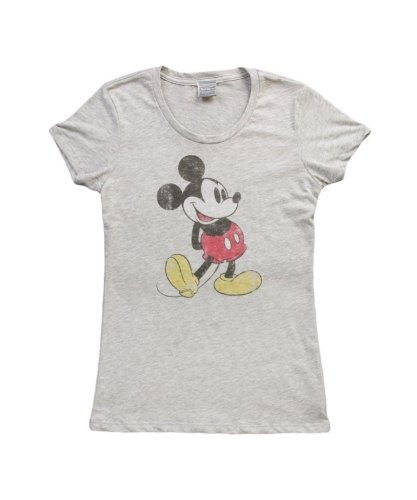 - Mighty Fine Classic Mickey Mouse Pose Juniors Gray M