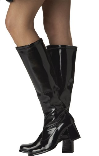 Sexyca Fancy Dress Party Go Go Boots - 60s & 70s Party Boots Black QkijLR