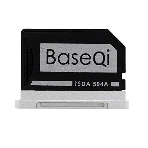 BaseQi Ninja Stealth Drive 103A Adattatore Micro SD Alluminio argento edge per MacBook Air 13' e MacBook Pro NON Retina 13' e MacBook Pro NON Retina 15' BV-332A