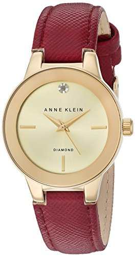 Anne Klein Women's AK/2538CHBY Analog Display Japanese Quartz Red Watch