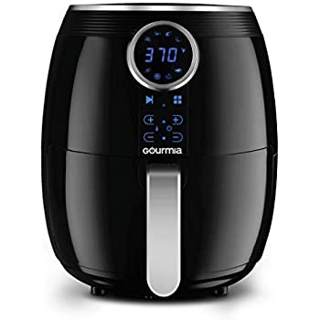 Gourmia GAF575 Digital Air Fryer - 5 QT / 4.7 Liter Capacity with Digital Touch LCD Display, RadiVection 360° Heat Circulation Technology and 2-tiered Cooking Racks
