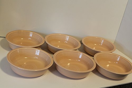 Homer Laughlin Fiesta Apricot Set of 6 Coupe Soup Bowls 7