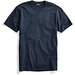 Goodthreads Men's Short-Sleeve Crewneck Cotton T-Shirt, Washed Navy, XX-Large