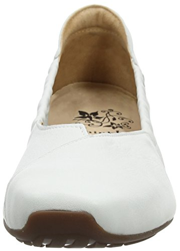 Closed Gaudi Bianco Ballet Toe Think 282176 96 Women''s 96 White Flats bianco twnAqT