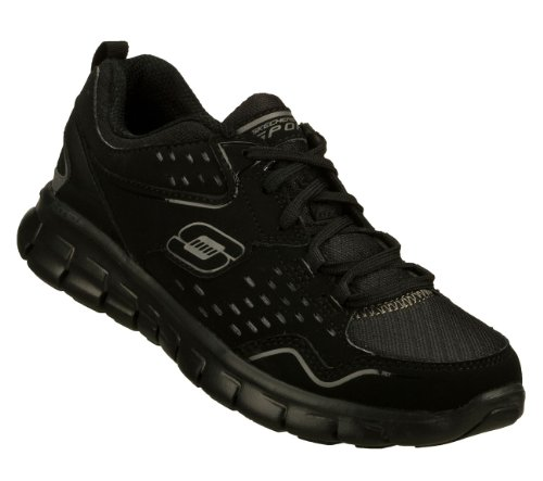 Skechers Womens Synergy A Lister Black Running Shoe – 11