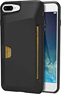 "Silk iPhone 7 Plus/8 Plus Wallet Case - VAULT Protective Credit Card Grip Cover - ""Wallet Slayer Vol.1"" - Black Onyx"