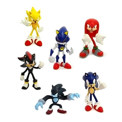 TONGROU 6pcs Action Figures Cute Sonic the Hedgehog Game Doll Kids Boy Girl Toy Set (Amy Rose Sonic Boom)