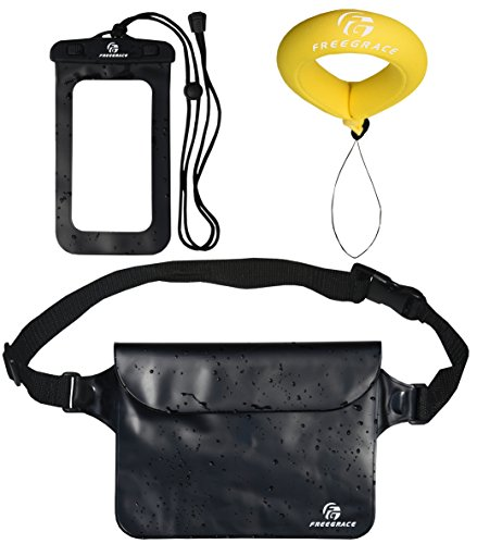 Premium Waterproof Waist Pouch, Phone Case and Float Strap - Best Way to Keep Your Phone and Valuables Dry and Safe - Perfect for Boating Swimming Snorkeling Kayaking Beach Pool - When Need Go You Do Camping What You