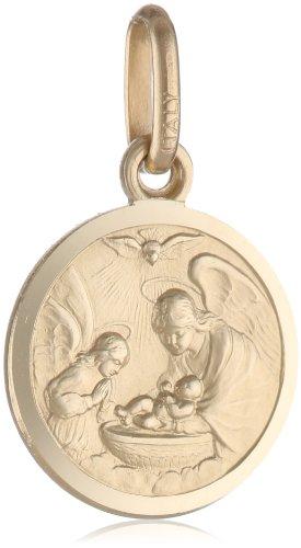 "14k Yellow Gold Baptism Medal (1/2"" x 1/2"")"