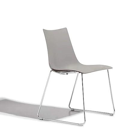 Traîneau Pied Chromée Design Chaise Zebra 2 Set Technopolymère Scab OkiPZuX