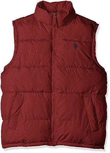 U.S. Polo Assn. Men's Basic Puffer Vest, University Red, (Marty Mcfly Vest)