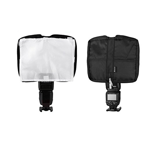 Powerextra Universal Portable Flash Light Bender Flash Diffuser Foldable Light Diffuser Snoot Light Reflector Convenient Hand Bag