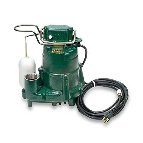 Zoeller 98-0001 115-Volt 1/2 Horse Power Model M98 Flow-Mate Automatic Cast Iron Single Phase Submersible Sump/Effluent Pump ... (Pack of 1)