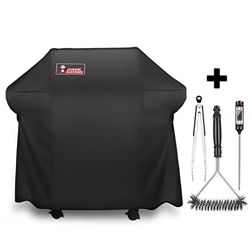 Kingkong Grill Cover 7106  Cover for Weber Spirit 200 and 300 Series Gas Grill Including Grill Brush,Tongs and Thermometer (Deluxe Barbeque Grill Cover)
