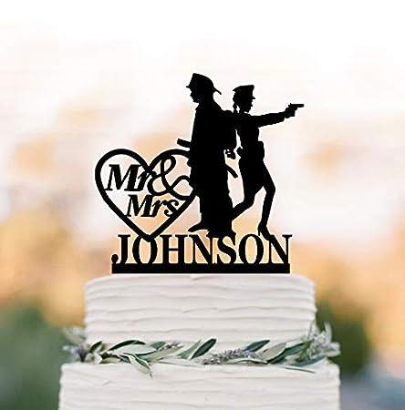 Decoración para tarta de boda con diseño de policía y bombero, con ...