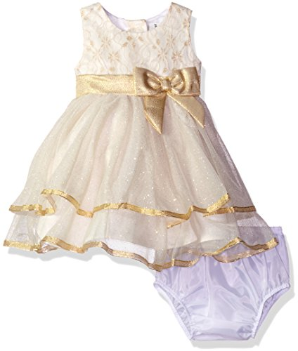 Rare Editions Baby Girls' Ballerina Holiday Dress, Ivory,...