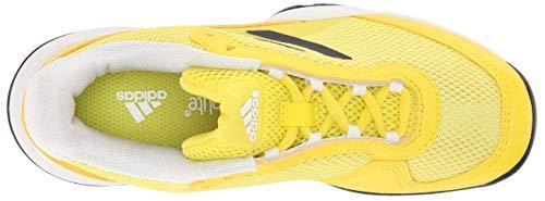 adidas Barricade Xj Tennis Shoe, Shock Yellow/Legend US Big