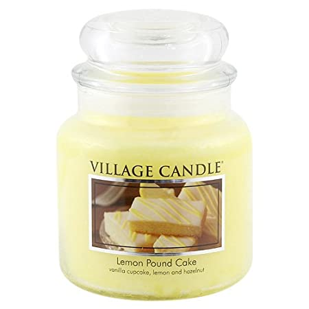 Village Candle Lemon Pound Cake 11 oz Glass Jar Scented Candle, Small 106011388