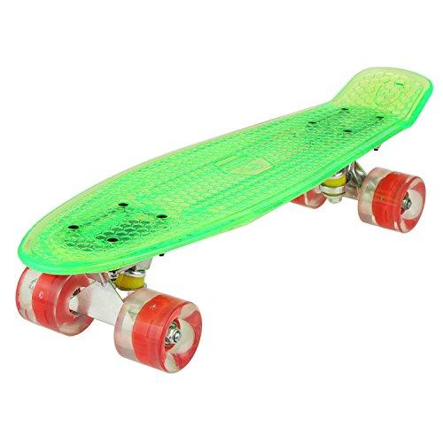 Vansop 22' Complete Skateboard Colorful LED Light-Up Wheels for Kids Boys Girls Youths Beginners (US Stock)