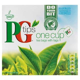 PG Tips One Cup Tea Bags With Tags 100 X Case Of 12 by PG Tips