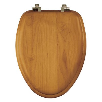 Natural Reflections Toilet Seat - Natural Reflections Wood Elongated Toilet Seat Finish: Oak