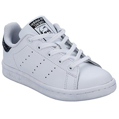 adidas Originals Kinder Mädchen Stan Smith Snake Sportschuhe Weiß