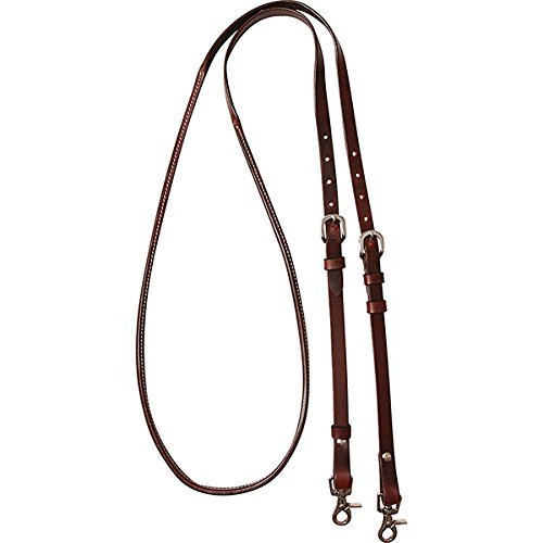 Cashel Company 8 foot Adjustable Reins w/Rawhide Trim 8FT Chocolate Adjustable Rein